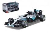 Auto Bburago 1:43 Mercedes F1 AMG W07 hybrid formule kov/plast v krabičce 14x7x6.5cm