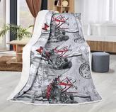 Přikrývka ABELA - romantika/šedý beránek - 150x200