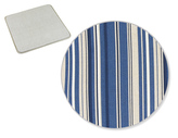 Sedák IVO hladký - proužek modrý - 40 x40 cm