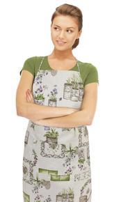 Kuchyňská zástěra IVO - fialová romance - zástěra 67x84 cm