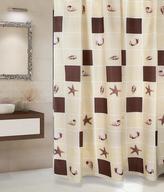 Koupelnové závěsy - béžové lastury - 180x200 cm