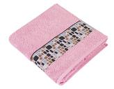 Froté ručník a osuška Kameny - růžová - Osuška 70x140 cm