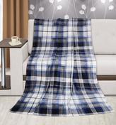 Přikrývka  Kemping PLUS - modré čtverce - 150x200 cm