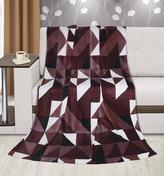 Přikrývka  Kemping PLUS - hnědé trojúhelníky - 150x200 cm