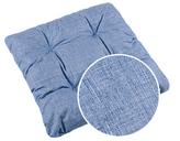 Sedák Adéla prošívaný - sv.modrá uni efekt režná - 40x40 cm,prošívaný