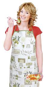 Kuchyňská zástěra EMA - olivy - zástěra 67x84 cm