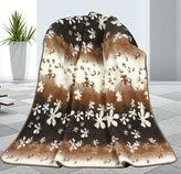 Evropské merino deka květy 450g/m2 - deka květy - 155x200 cm