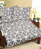 Povlečení bavlněné - šedobílá geometrie - 140x220, 70x90