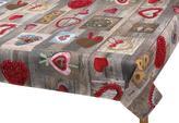 Ubrus  VÁNOCE - vánoční srdce - 120x140 cm