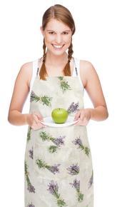 Kuchyňská zástěra EMA - svazek levandule - zástěra 67x84 cm