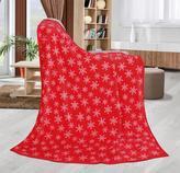 ELLA pléd - vločky - červená - 130x155 cm