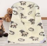 Evropské merino deka dětská bílá ovečka - deka ovečka - 100x150 cm
