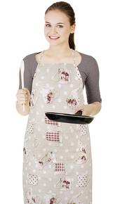 Kuchyňská zástěra EMA - hrnek s konvičkou - zástěra 67x84 cm