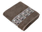 Froté ručník a osuška Kameny - hnědá - Osuška 70x140 cm