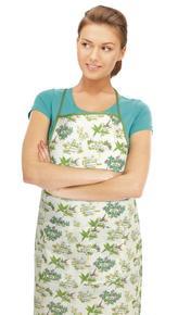 Kuchyňská zástěra GITA - bylinky - zástěra 67x84 cm