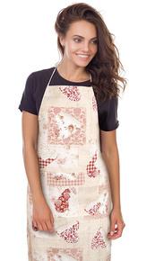 Kuchyňská zástěra EMA - patchwork srdce růžové - zástěra 67x84 cm