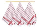 Kuchyňské utěrky - kostka červená - 50x70 cm