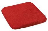 Sedák hladký Korall micro - červená - 40x40 cm