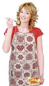 Kuchyňská zástěra IVO - srdce patchwork - zástěra 67x84 cm