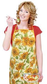 Kuchyňská zástěra GITA - květ slunečnice - zástěra 67x84 cm