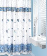 Koupelnové závěsy - modré mušle - 180x200 cm