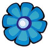 Kuchyňská podložka - květ modrý - 10x10 cm