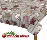 Ubrus  VÁNOCE - vánoční perníčky - 70x70 cm