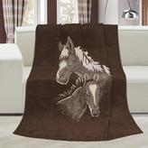 Přikrývka Karmela PLUS  jednolůžko - koně - 150x200 cm