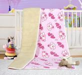 Evropské merino deka dětská bílá s růžovým  povrchem - deka medvídek růžový - 100x150 cm