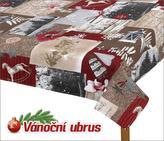Ubrus  VÁNOCE - zasněžené vánoce - 70x70 cm