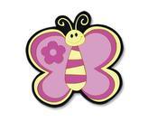 Kuchyňská podložka - motýl růžový - 10x10 cm