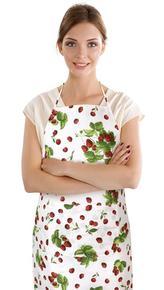 Kuchyňská zástěra EMA - jahody a třešně - zástěra 67x84 cm