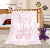 NELA dětská deka - sova růžová - 100x140 cm