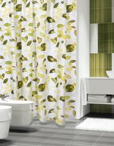 Koupelnové závěsy - zelené rostliny - 180x200 cm