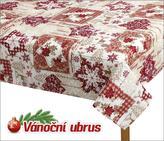 Ubrus  VÁNOCE - vánoční patchwork - 70x70 cm