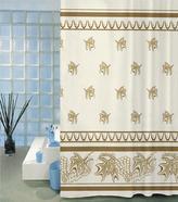 Koupelnové závěsy - list béžový - 180x200 cm