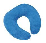 Polštářek cestovní podkova - modrá - 30x35 cm