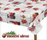 Ubrus VÁNOCE - vánoční ozdoby - 60x60 cm