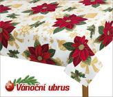 Ubrus VÁNOCE - vánoční hvězda - 70x70 cm