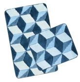 ULTRA  sada - modrá krychle - sada 60x100, 60x50 cm