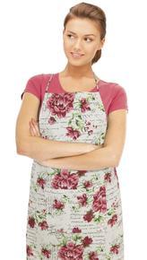 Kuchyňská zástěra DANA - květinový dopis - zástěra 67x84 cm