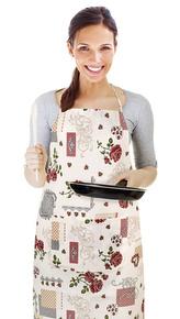Kuchyňská zástěra EMA - květ růže - zástěra 67x84 cm