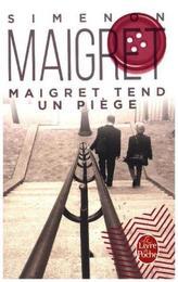 Maigret tend un piege. Maigret stellt eine Falle, französische Ausgabe