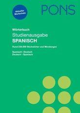 PONS Wörterbuch Studienausgabe Spanisch
