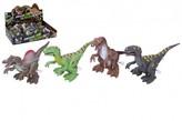 Dinosaurus se světelnými efekty 14cm plast na natažení mix barev