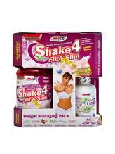 Shake 4 Fit & Slim 1000 g + Carniline 480 ml - jahoda