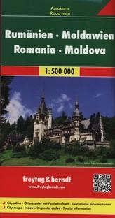 Freytag & Berndt Autokarte Rumänien, Moldawien. Romania, Moldova