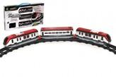 Vlak s kolejemi délka dráhy 308cm s doplňky plast na baterie se světlem v krabici 48x26x5cm