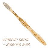 """Mobake Motivační bambusový kartáček - \""""Zmením seba...\"""" (extra soft)"""