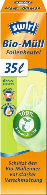 Swirl Bio kompostovatelné pytle s uchy (6ks) - 35 l